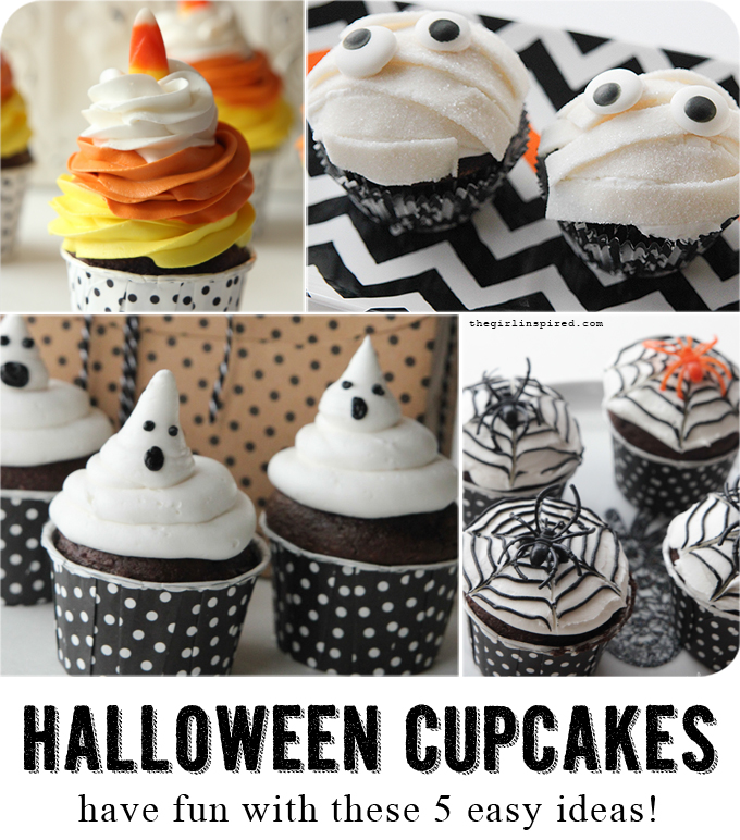 5 Awesome DIY Halloween Cupcakes that anyone can make!#DIY4Halloween