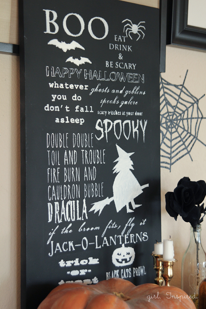 halloween chalkboard sign free imageprintable