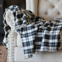 Make a cozy Flannel Fringe Blanket - so simple, you could even make this no-sew!
