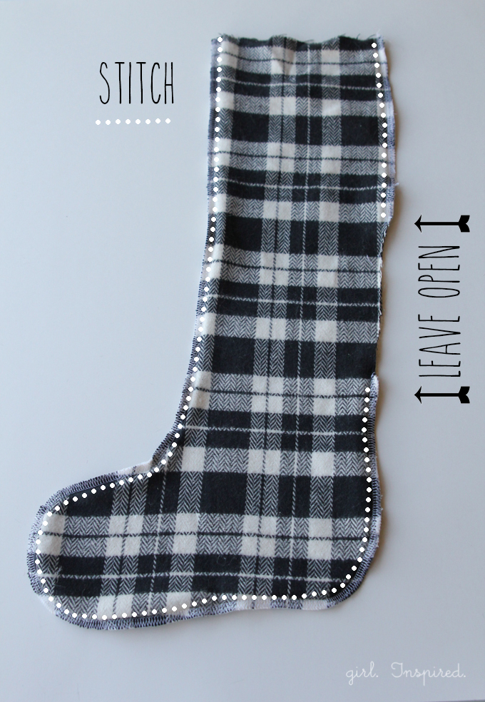 Pattern and Tutorial for Fur and Flannel Stockings - easy!