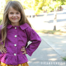 Ruffled Details Jacket Pattern - from fiveandtendesigns.com