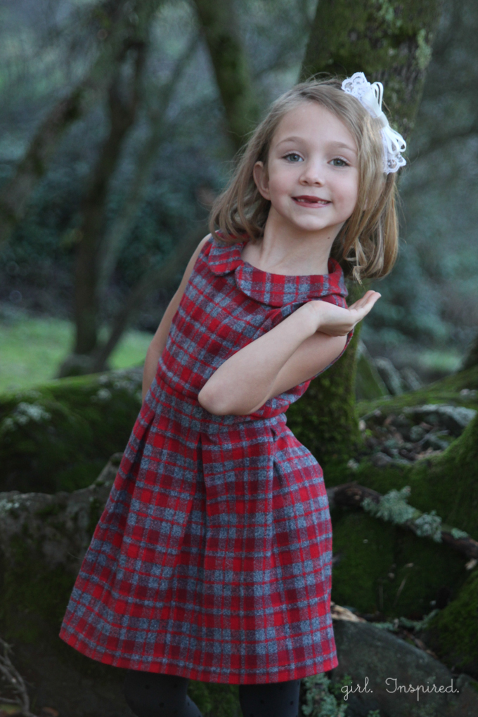 Pleated Plaid Holiday Dresses