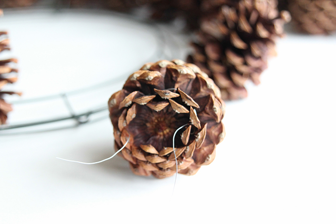 Rustic Pinecone Wreath - perfect DIY for winter decor