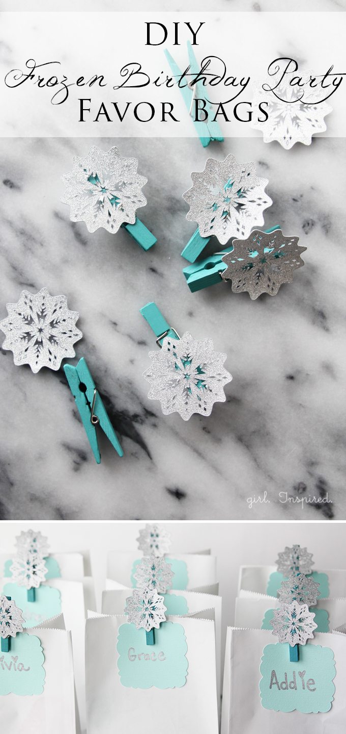 Perfect and easy party favor bags for Frozen Birthday Party!