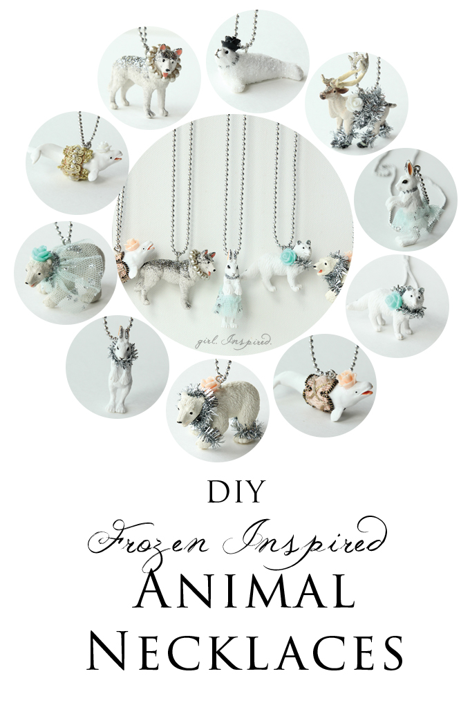 Frozen Party Favor Necklaces - DIY