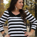 Easy to sew striped Parisian Top
