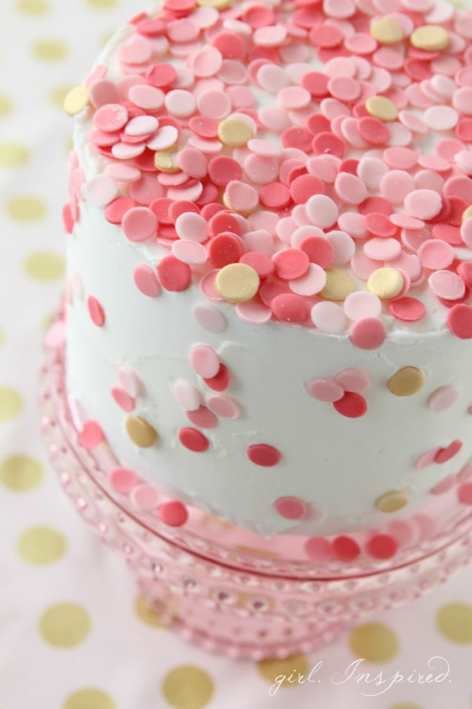 Easy Cake Decorating With Sprinkles : Celebrate Archives - girl. Inspired.