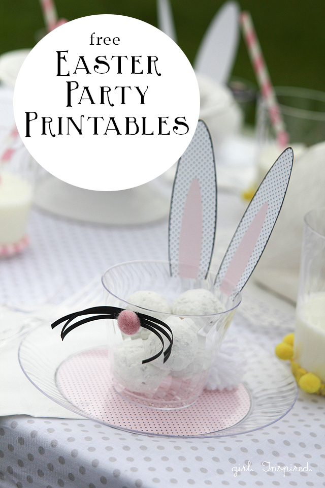 Free Easter Party Bunny Printables