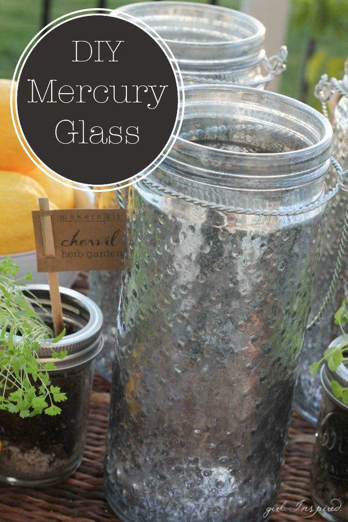 DIY Mercury Glass Lanterns - make your own mercury glass!