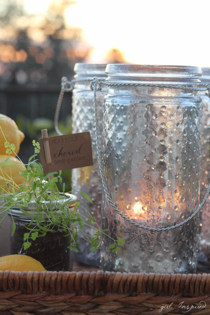 DIY Mercury Glass Lanterns - make your own mercury glass!