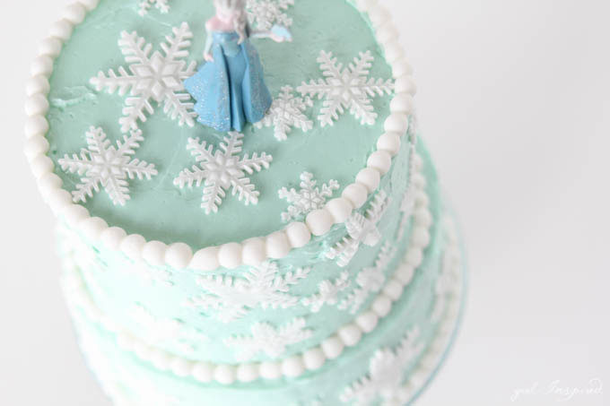 Frozen Inspired Snowflake Cake Girl Inspired