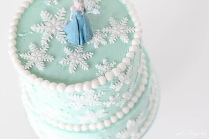 Fine Frozen Inspired Snowflake Cake Girl Inspired Funny Birthday Cards Online Fluifree Goldxyz