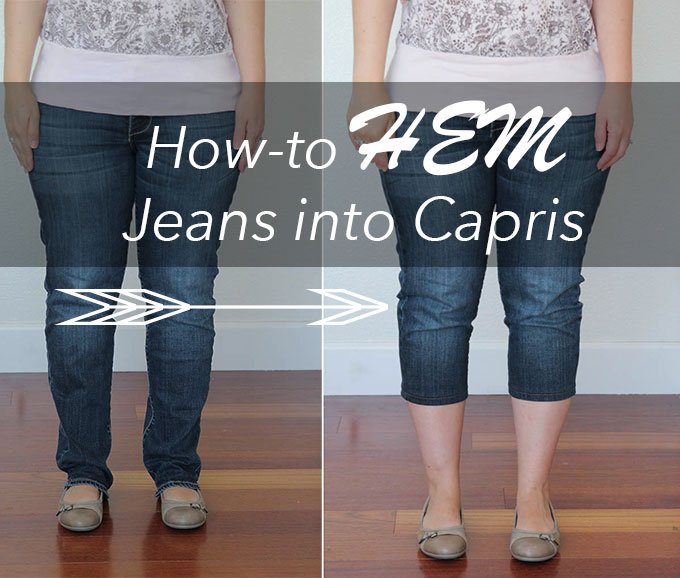 Quickly HEM your jeans into capris!
