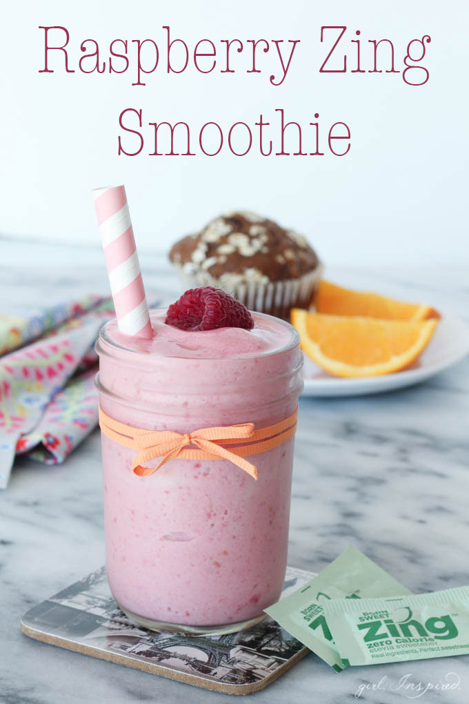 Raspberry Zing Smoothie - raspberries and orange juice pack a punch of flavor into this smoothie!
