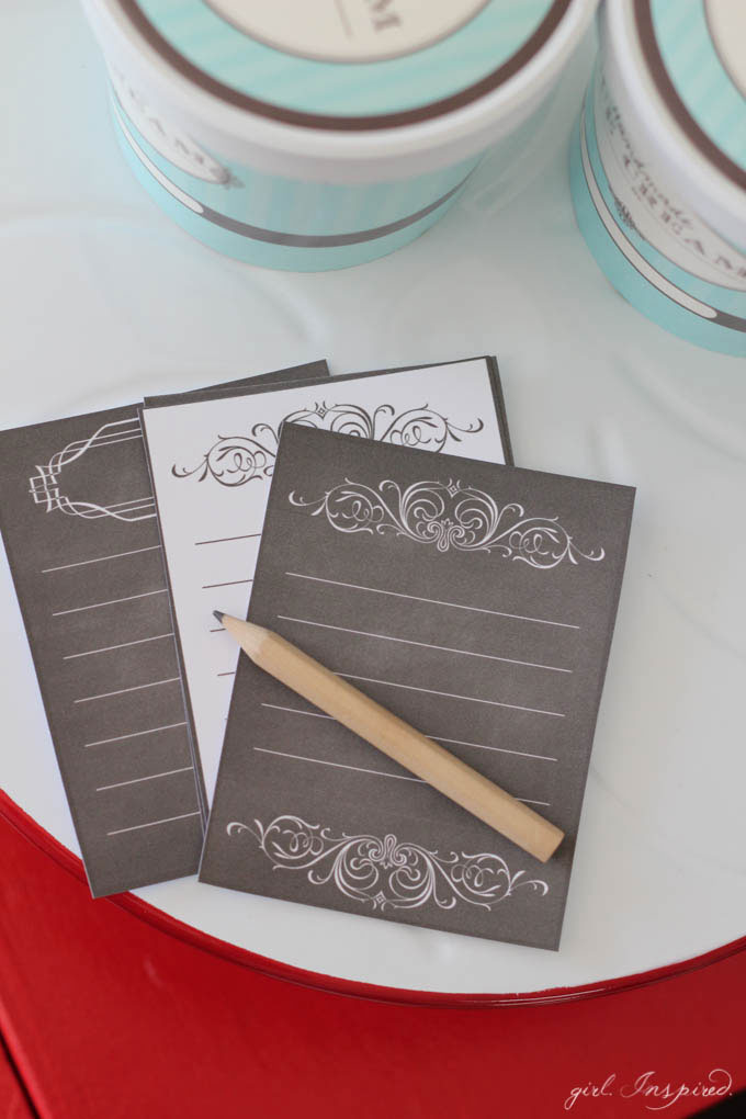 "DIY Playroom Chalkboard - printable ""order"" cards for play restaurant"