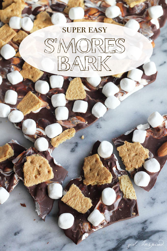 ... Easy S'mores Bark - love this easy recipe to make s'mores bark