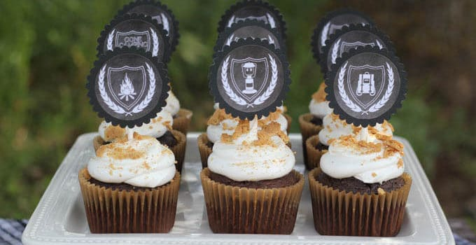 Gone Camping Printable Cupcake Toppers