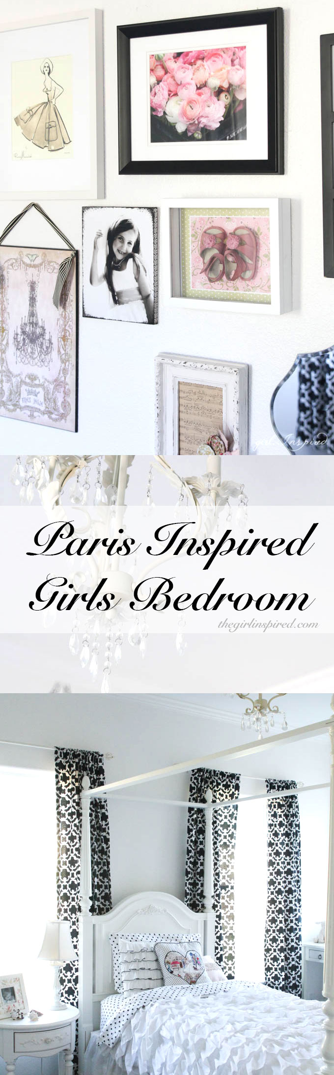 Paris Inspired Bedroom - pretty girl's bedroom!