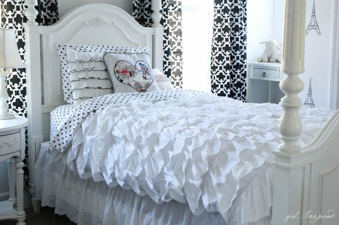 Ruffled Duvet Cover - sewing tutorial - so pretty!