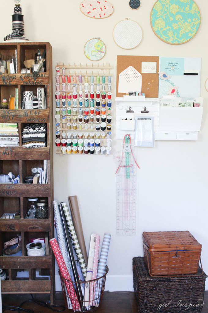 Sewing Room Tour - girl. Inspired.