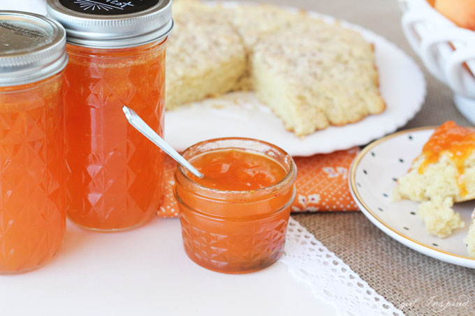 This Apricot Jam recipe is so good with a smidge of Almond Extract!