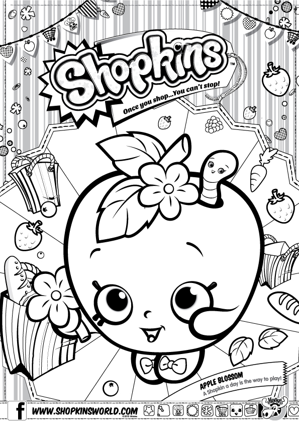 Shopkins Coloring Page plus other fun Shopkins party ideas!
