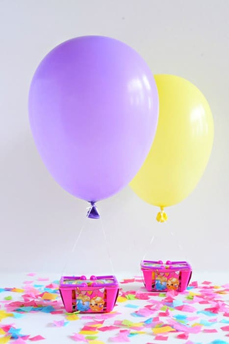 Hot Air Balloon Party Favors plus loads of Shopkins Birthday party ideas