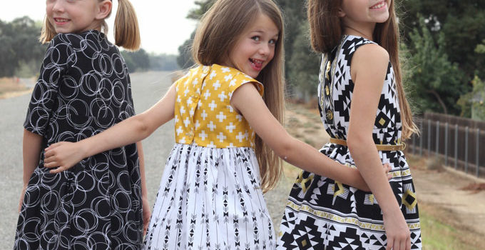 Fall Photo Dresses with Four Corners Fabric