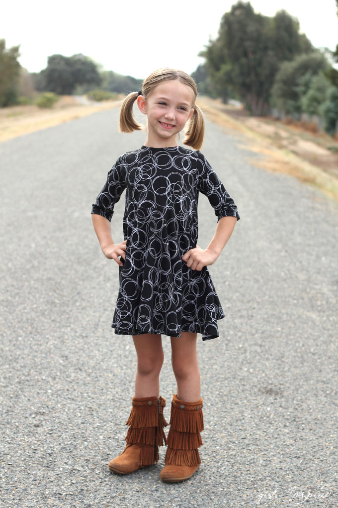 Fall Photo Dresses with Four Corners Fabric - girl. Inspired.