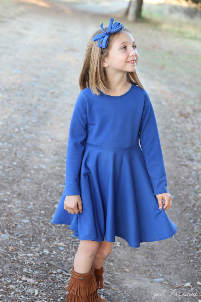 Knit Twirl Dress Tutorial - girl. Inspired.
