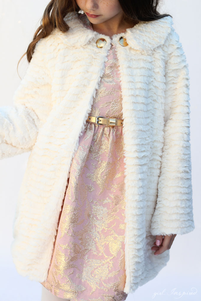 Luxe Fur Coat Pattern and sewing tutorial - free and SO pretty!