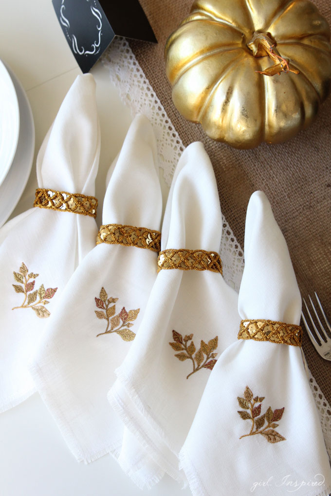 DIY Linen Fringe Napkins - girl. Inspired.