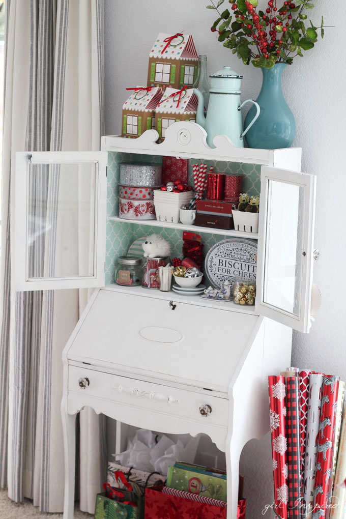 Christmas Holiday Home Tour - look at this wrapping station!
