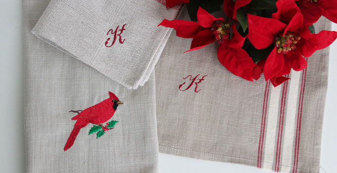 Embroidered Table Linens – quick gifts!
