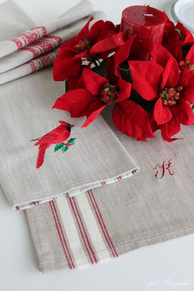 embroidered table linens - quick gifts