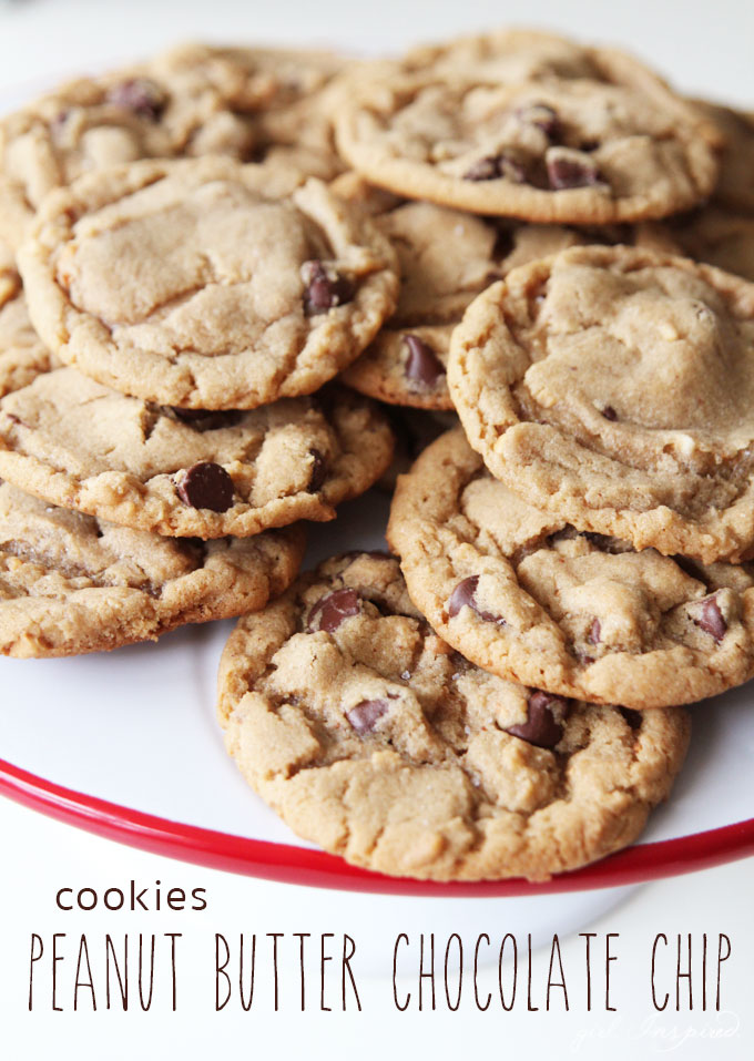 Peanut Butter Chocolate Chip Cookies - the BEST recipe for a buttery ...