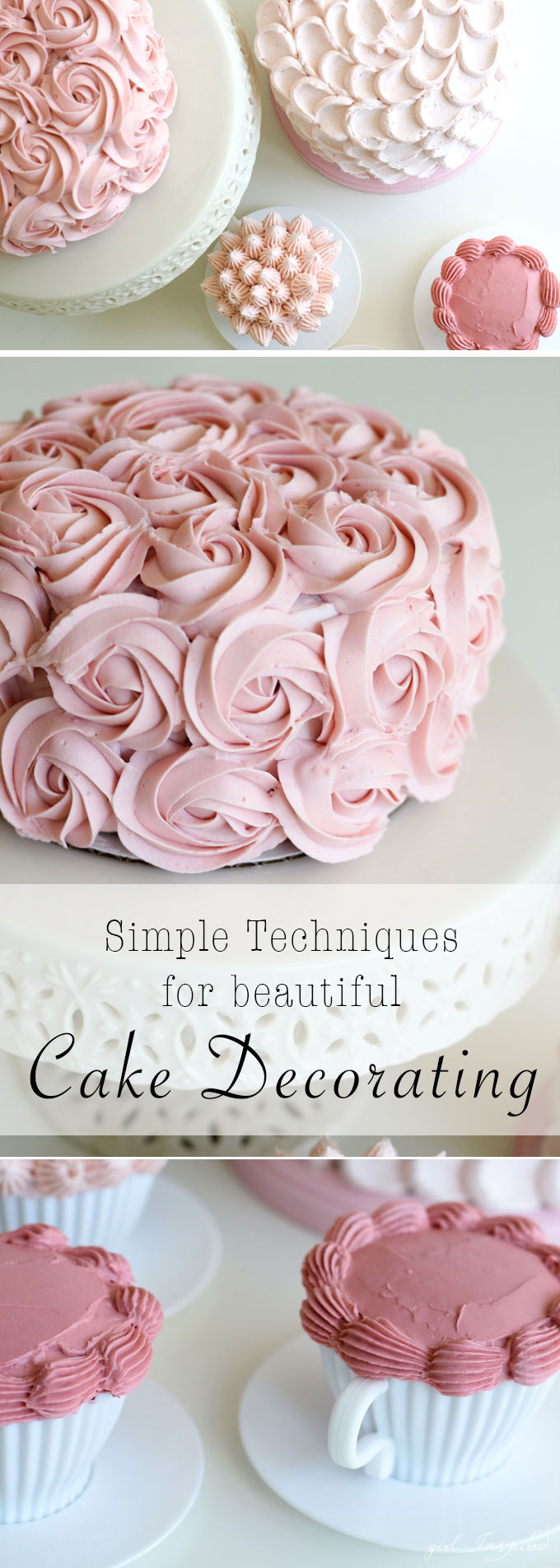 What Cake Decorating Tips Make What : Simple and Stunning Cake Decorating Techniques - girl ...