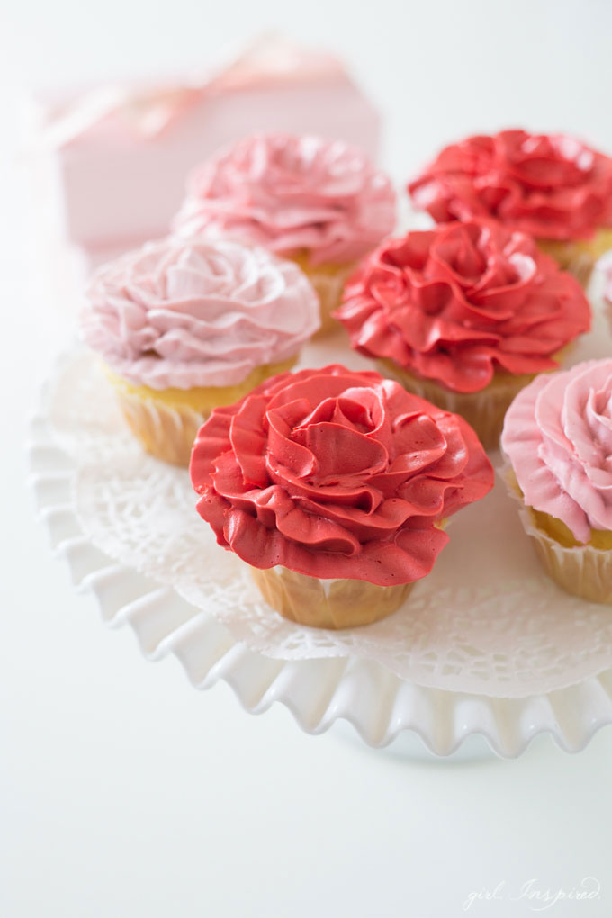 Rose Cupcakes Video Tutorial Girl Inspired