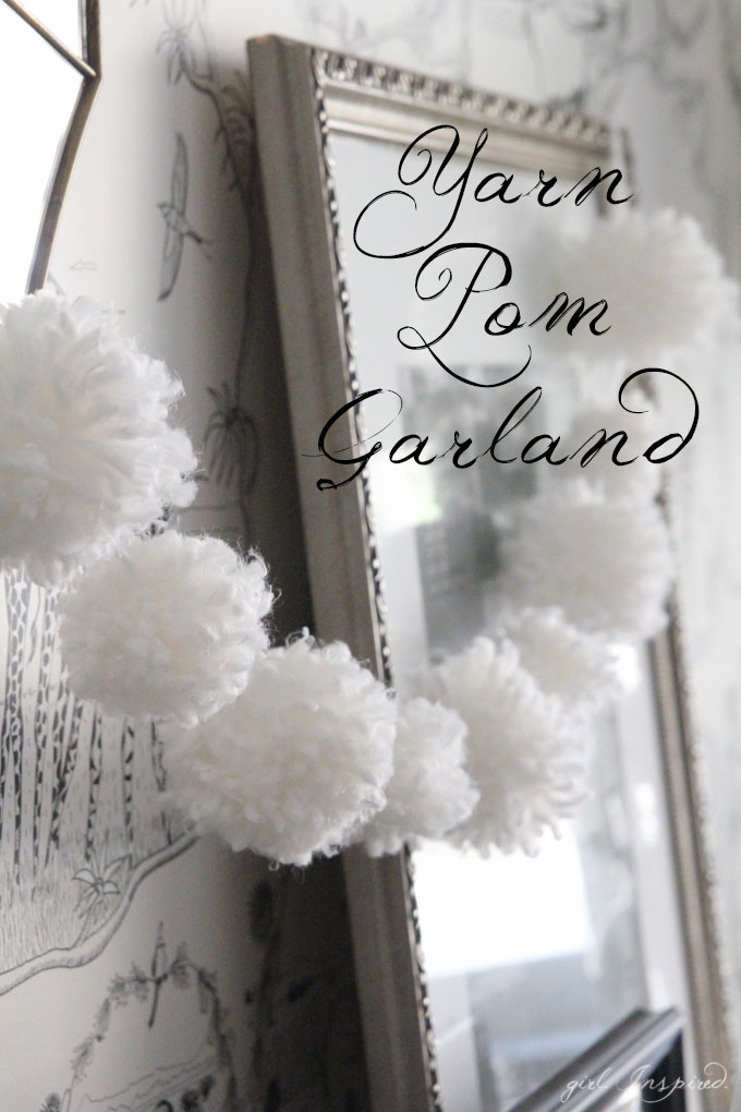 Making pom pom garland from yarn is a fun and easy way to add a little winter charm to your decor!