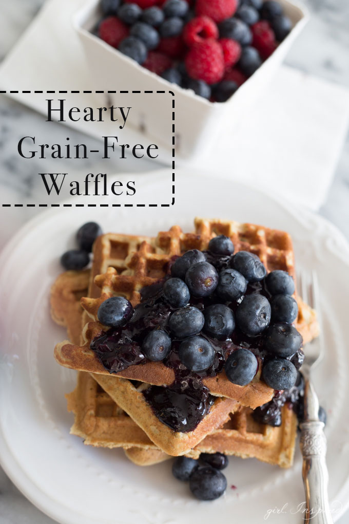 These grain-free waffles are so hearty and delicious, you'll never miss traditional waffles again. No grains, no sugar!