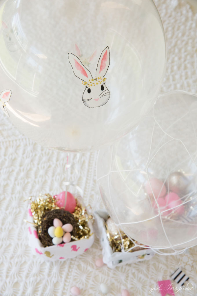 Hot Air Balloon Easter Baskets - the cutest idea for little treats!