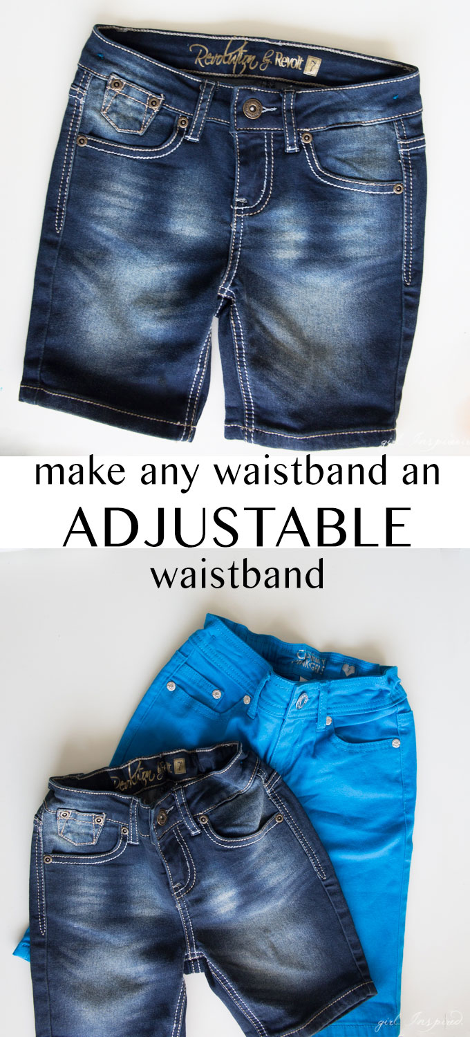 Add An Adjule Elastic Waistband To Kids Clothes In A Snap No Sewing Machine
