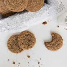 These Ginger Molasses Sugar cookies are soft and full of flavor - they stay fresh for more than a week - perfect for camping, and road trips!
