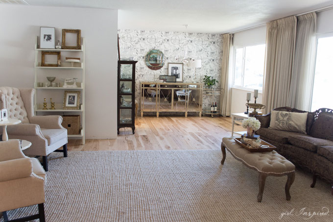 Rustic Hickory Hardwood Flooring - gorgeous floors for the main living areas of the house. Loaded with character and upscale beauty - what an improvement over the orange carpet!