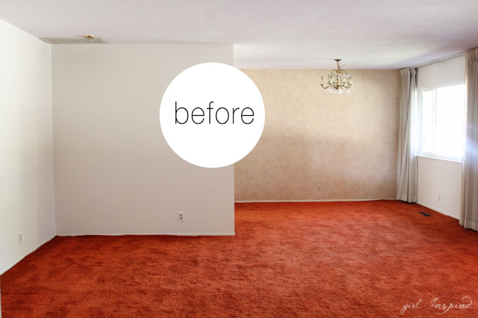 What a Transformation - old carpet to beautiful hardwood!