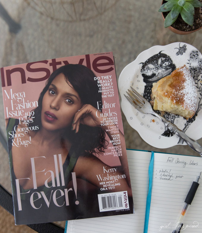 I love finding sewing and style inspiration in InStyle magazine.