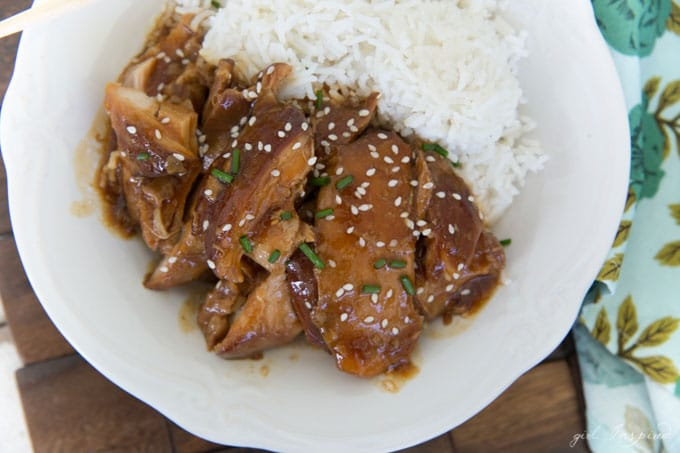 This Crockpot Teriyaki Chicken recipe is so simple to make; the sauce is rich and delicious - a great comfort meal for busy weeknights!