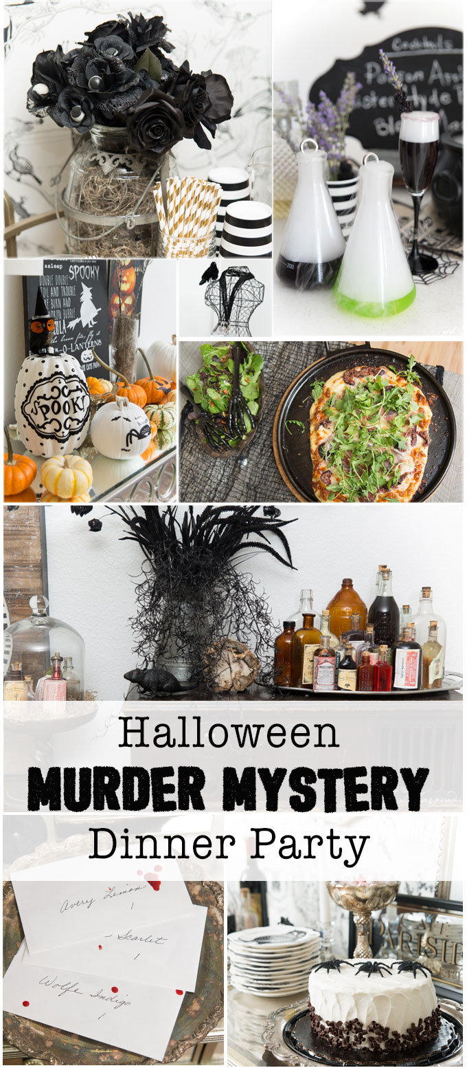 Halloween Dinner Party Ideas.Halloween Murder Mystery Dinner Party Girl Inspired
