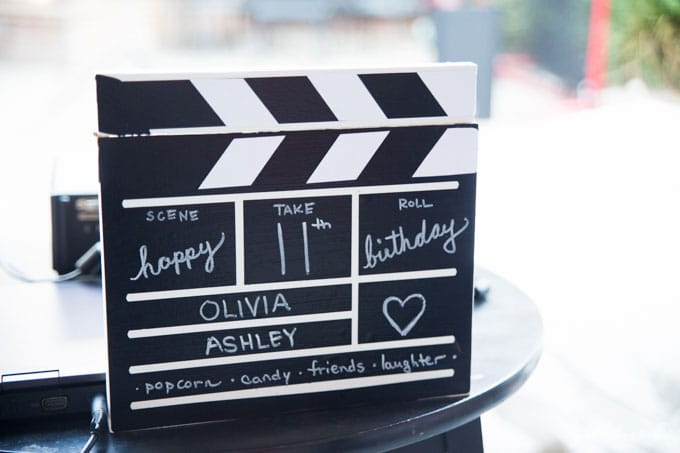 Movie Party and DIY Director's Clapboard