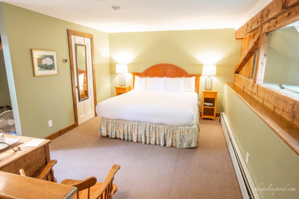 bedroom at the Wildflower Inn